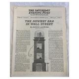 1935 Saturday Evening Post Stock Market Pages