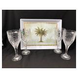 Godinger South Beach Palm Goblets