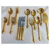 Gold Electroplated/Stainless Flateware Set