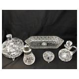 Assorted Cut Glass Pieces