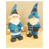 Pair of Carolina Panthers Gnomes