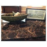 Potpourri Dish and Framed Picture