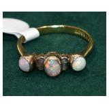 18K OPAL RING, L&G, 2GR TOTAL WEIGHT APPROX