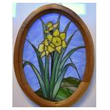 """DAFFODILS, STAINED GLASS, 18.5"""" X 14.5"""""""