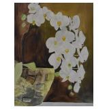 """SAM STOREY, """"MOTH ORCHID"""", WATERCOLOUR ON PAPER"""