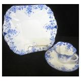 """SHELLEY """"DAINTY BLUE""""  PLATE, TEACUP AND SAUCER"""