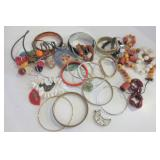 COSTUME JEWELRY, INCLUDING BANGLES &  NECKLACES