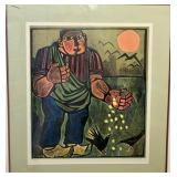 DOMINIQUE CARPENTIER, SIGNED/NUMBERED LITHOGRAPH,