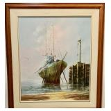 OIL ON CANVAS SIGNED L MALLOT