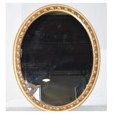 GOLD ORNATE OVAL MIRROR