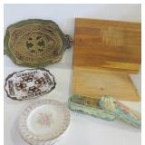 WOOD CUTTING BOARDS, TRAY, REPRODUCTION ROYAL