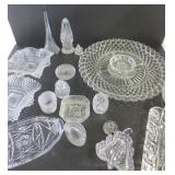 GLASSWARE- SERVING DISHES, SALTERS