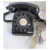NORTHERN ELECTRIC BLACK ROTARY DIAL TELEPHONE