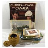CHARLES & DIANA BOOK, MARBLES &  NEW POSTCARDS