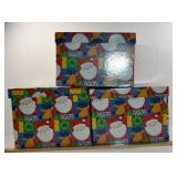 3  SETS OF NESTING CHRISTMAS BOXES, 2 ARE 10 PIECE