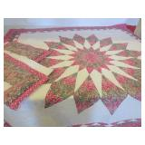 """STAR QUILT WITH PILLOW SHAMS - 80 X 82"""""""
