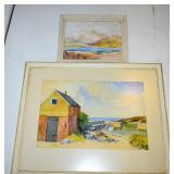 CYRIL COOK WATERCOLOURS 30 X 24 AND 16 X 13- AS IS