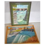 """CYRIL COOK HOGS BACK FALLS 20 X 27"""" AND RIDEAU"""