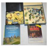 MINIATURE SOLDIERS IN TWO BOXES W/6 BOOKS