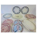PLATTERS, PLATES, BOWLS - ASSORTED