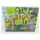 TILE BASED ON A PAINTING BY GOERGES-PIERRE SEURAT