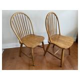 """TWO WINDSOR BACK CHAIRS 36.5""""T"""