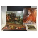 3 LITHOGRAPHS, BY RENOIR, HUNTER AND
