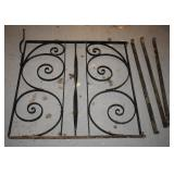 WROUGHT IRON GARDEN GATE WITH ATTACHING PIECES