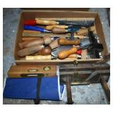 CHISEL & CARBING TOOLS, SMALL HAMMER, BRUSH,