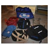 LOT OF BACK PACKS AND TRAVEL BAGS