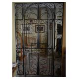 ANTIQUE WROUGHT IRON DOOR WITH NEW