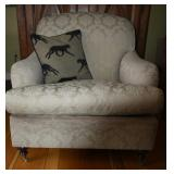 UP COUNTRY UPHOLSTERED CHAIR, WOOD