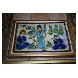 FRAMED TILE HAND PAINTED FROM TURKEY