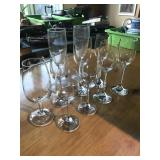 STEMWARE, VARYING SIZES, 10 PIECES
