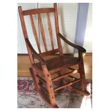 RUSTIC WOOD ROCKING CHAIR