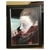 "FRAMED PAINTING OF WOMAN ""SABRINA"""