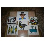 HAND PAINTED CERAMIC TILES BY KENNETH COLE