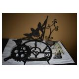 CAST IRON TRIVET FOR EGGS & OTHER CAST ITEMS