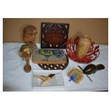 ASSORTED DECORATIVE WOOD ITEMS