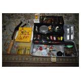 FISHING TACKLE BOX & TACKLE