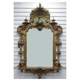 19C FOSTER BROS Peacock Wall Mirror