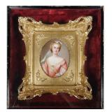 KPM Porcelain Portrait Plaque, Wagner