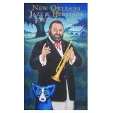 GEORGE RODRIGUE, 2000 New Orleans Jazz Fest Poster