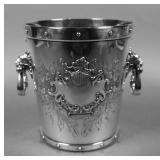Victorian Silverplate Ice Bucket Wine Cooler