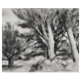 SIDNEY LAUFMAN, Ink on paper, Landscape
