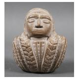 Native American Stone Bust Carving
