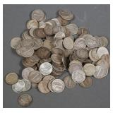 (165) Silver 90% US Dimes 10c