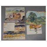 JAY CONNAWAY, (4) Landscape Painting Studies
