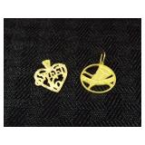 (2) 14k Gold Charms