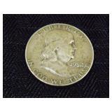 1952 Benjamin Franklin Silver Half Dollar